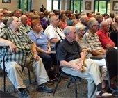 Roads meeting audience
