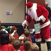 Santa's visit to Town Hall