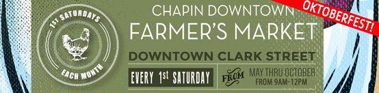Chapin Downtown Farmer's Market Oktoberfest banner