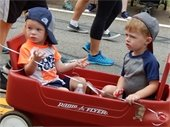 Children in wagon picture