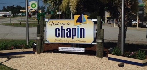 Welcome to Chapin sign photo