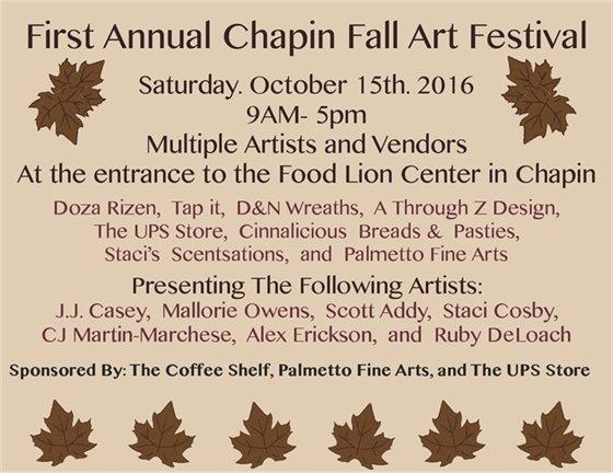 Chapin Fall Art Festival flier
