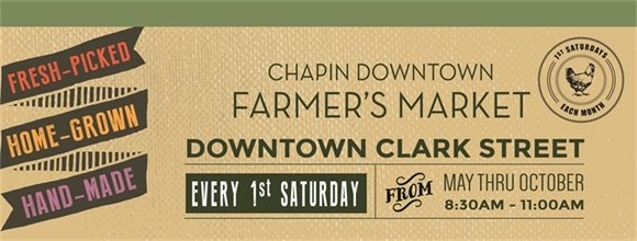 Chapin Downtown Farmer's Market banner